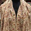 White Jamawar Sozni Pure Pashmina Hand Embroidered Shawl