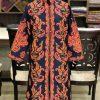 navy Blue embroidered kashmiri coat