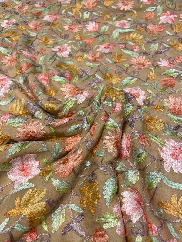 Kashmiri floral jaal Running Length