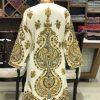 Woollen Kashmiri Long Jacket With Allover Jaal Embroidery
