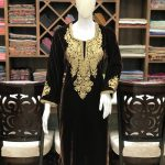 Kashmiri Brown Velvet Kurta with Tilla Embroidery