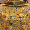 Mustard Fine Wool Outlined Kalamkari Stole Wrap 2