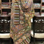 Multi Colour Fine Wool Paisley Kalamkari Stole