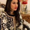 Black Jacket Style Flared Dress with Fusion Embroidery 2