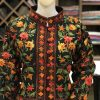 Black Floral Jaal Embroidered Bolero Jacket close up