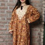 Red Pure Wool Kashmiri Phiran with Jaal Paisley Embroidery