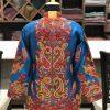 Ferozi Short Jacket With Kashmiri Anarkali Style Paisley Embroidery Back