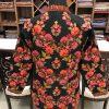 Black Short Jacket With Floral Kashmiri Pattern Embroidery Back